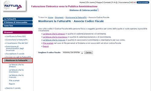 Monitorare FAtturaPA tramite canale Web
